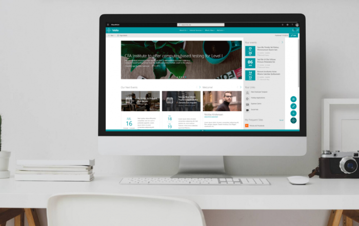 Desktop with Sharepoint Homesite Shown to Improve Data Accessibility