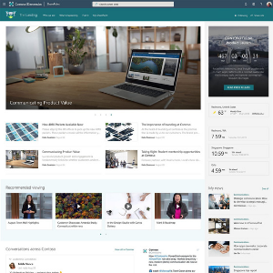 SharePoint Design THE LANDING News, resources, personalized content
